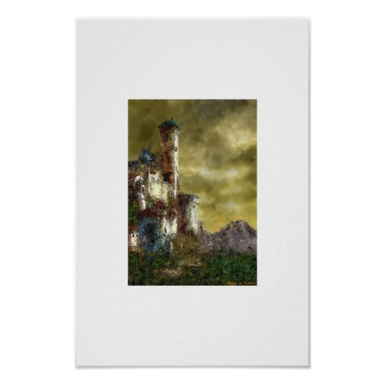 Landscape with castle III Poster