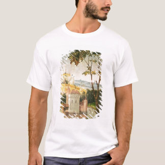 Landscape with castle in a moat and two swans T-Shirt