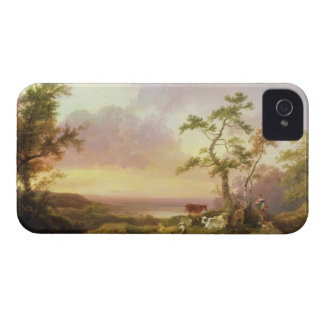 Landscape with Cattle and Peasant, c.1781 (oil on iPhone 4 Case-Mate Case
