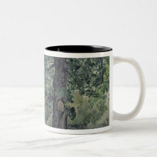 Landscape with Chestnut Tree in the Foreground Two-Tone Coffee Mug