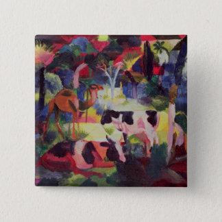 Landscape with Cows and a Camel 15 Cm Square Badge