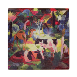 Landscape with Cows and a Camel Wood Coaster