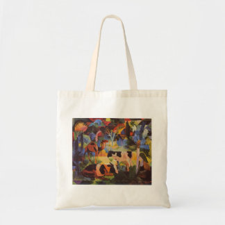 Landscape with cows and camels by August Macke Bags