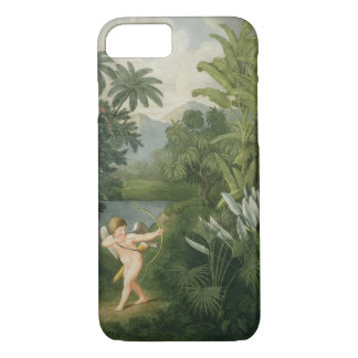 Landscape with Cupid aiming an arrow at a Parrot o iPhone 7 Case