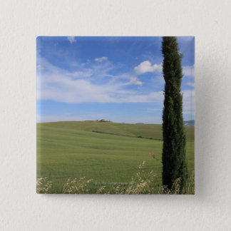 Landscape with Cypress 15 Cm Square Badge