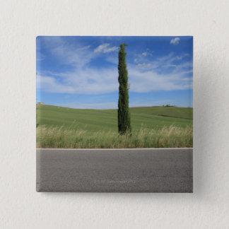 Landscape with Cypresses 15 Cm Square Badge
