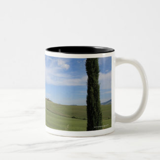 Landscape with Cypresses 2 Two-Tone Coffee Mug