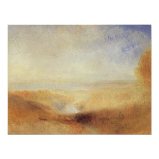 Landscape With Distant River And Bay by JMW Turner Poster