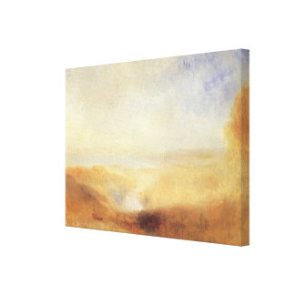Landscape With Distant River Bay by Joseph Turner Canvas Print