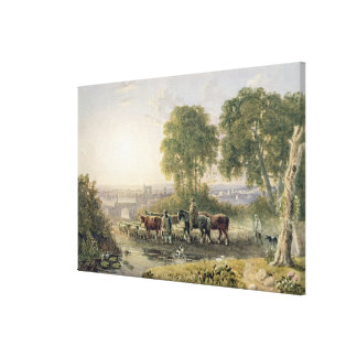 Landscape with Drovers Canvas Print