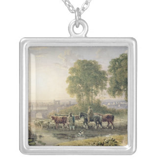 Landscape with Drovers Silver Plated Necklace