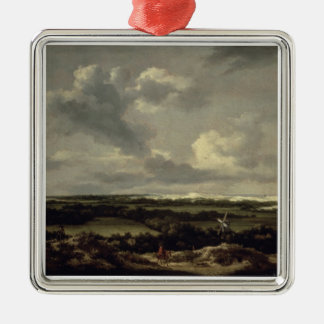 Landscape with Dunes near Haarlem (oil on canvas) Christmas Ornament