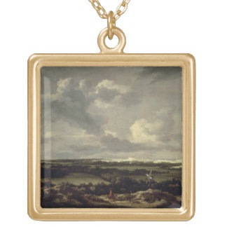 Landscape with Dunes near Haarlem (oil on canvas) Necklace