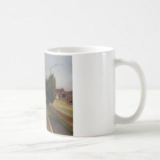 Landscape with Factory by Henri Rousseau Basic White Mug