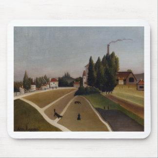Landscape with Factory by Henri Rousseau Mouse Pad
