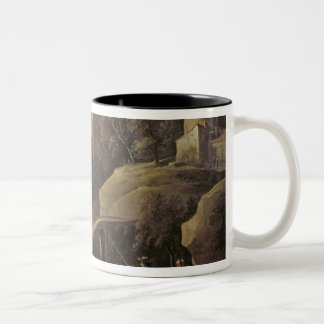 Landscape with Farmers tending their Animals Two-Tone Coffee Mug