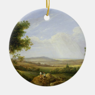 Landscape with Figures (oil on panel) Christmas Ornament