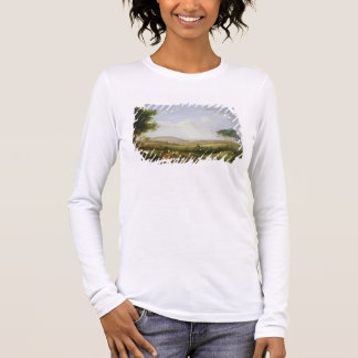 Landscape with Figures (oil on panel) Long Sleeve T-Shirt