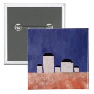 Landscape with Five Houses, c.1932 15 Cm Square Badge