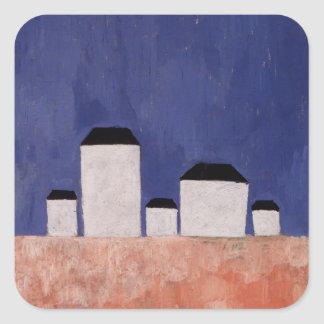 Landscape with Five Houses, c.1932 Square Sticker