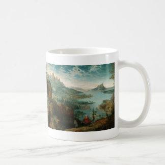 Landscape with Flight into Egypt - Pieter Bruegel Basic White Mug