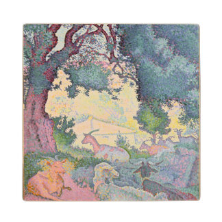 Landscape with Goats, 1895 Maple Wood Coaster