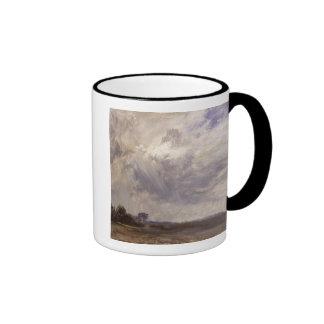 Landscape with Grey Windy Sky c 1821-30 oil on p Mugs