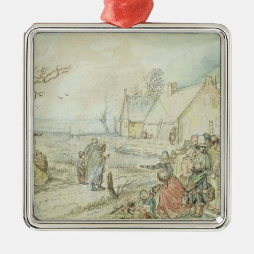 Landscape with Gypsy Fortune-Tellers Christmas Tree Ornament