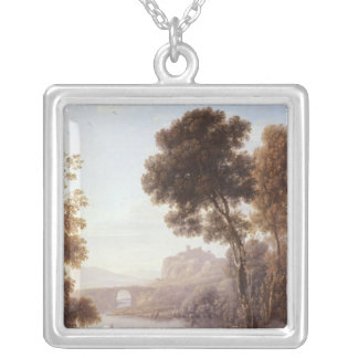 Landscape with Hagar and the Angel, 1646 Silver Plated Necklace