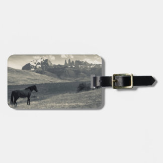 Landscape with horses 2 luggage tag