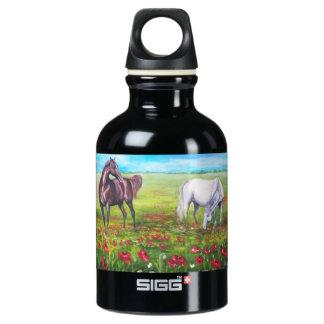 landscape with horses SIGG traveller 0.3L water bottle