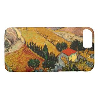 Landscape with House & Ploughman, Vincent Van Gogh iPhone 7 Case