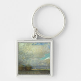 Landscape with Huts, 1900 Key Chain