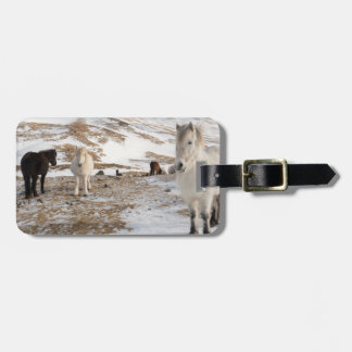 Landscape with Icelandic Horses Luggage Tag