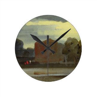 Landscape with Lake (Lake Scene) previously attrib Round Clock
