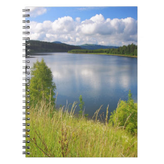 Landscape with lake notebook