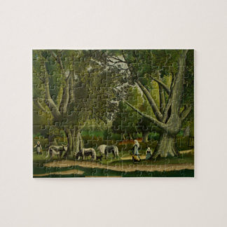 Landscape with Milkmaids by Henri Rousseau Jigsaw Puzzle