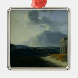 Landscape with Mount Stromboli Christmas Ornament