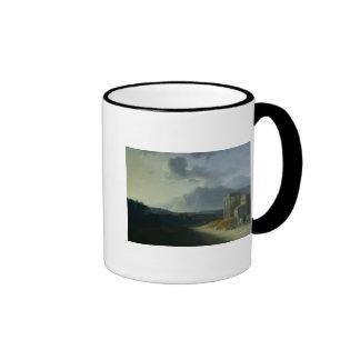 Landscape with Mount Stromboli Ringer Mug