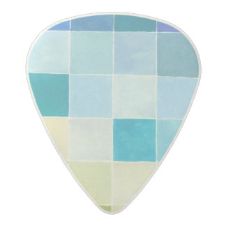 Landscape with Multicolored Pixilated Squares Acetal Guitar Pick