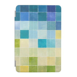 Landscape with Multicolored Pixilated Squares iPad Mini Cover