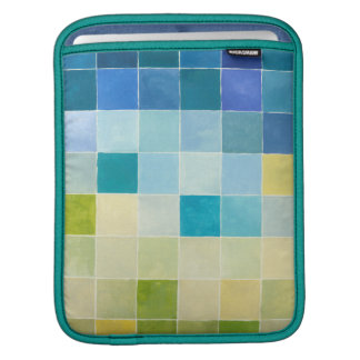 Landscape with Multicolored Pixilated Squares iPad Sleeves