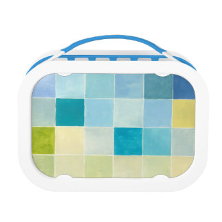 Landscape with Multicolored Pixilated Squares Lunch Box