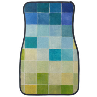 Landscape with Multicolored Pixilated Squares Car Mat