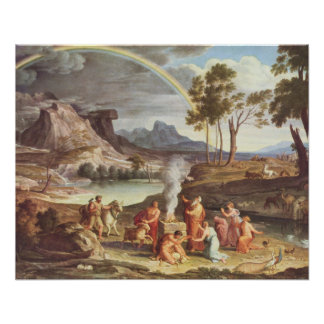 Landscape with Noah's Offering Poster