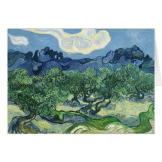 Landscape with Olive Trees, Vincent Van Gogh Card