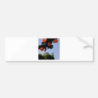 Landscape with orange orchids bumper sticker