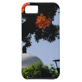Landscape with orange orchids iPhone 5 case