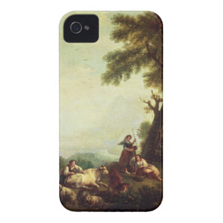 Landscape with Peasants Watching a Herd of Cattle iPhone 4 Covers