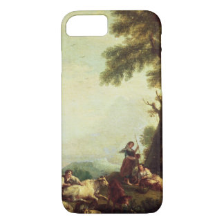 Landscape with Peasants Watching a Herd of Cattle iPhone 8/7 Case